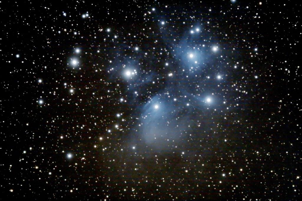 Dec 2008 - Une peu de ciel profond  à la 80ed - Italie Pleiades-20dec08
