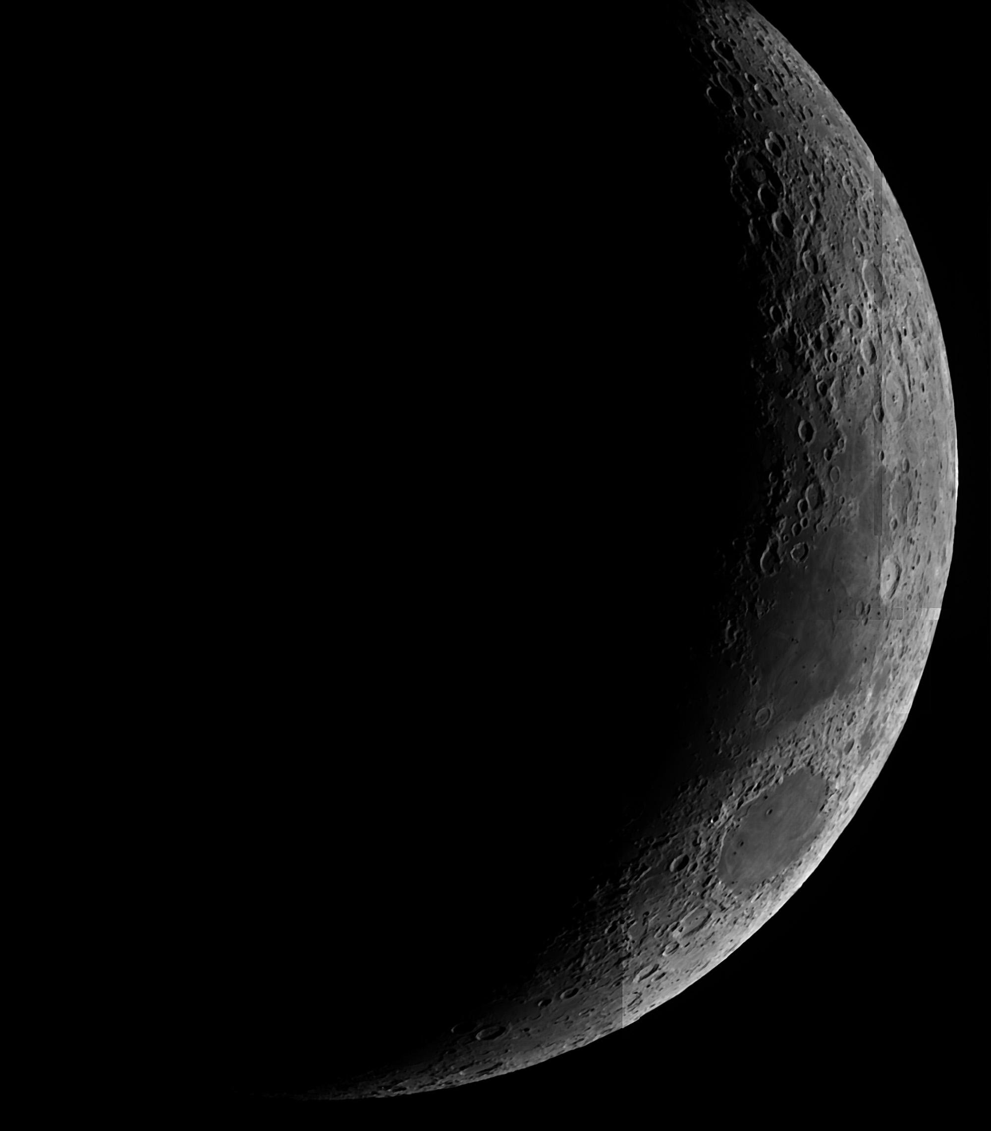 Premier traitement avec des images tirées de l'ESO Lune