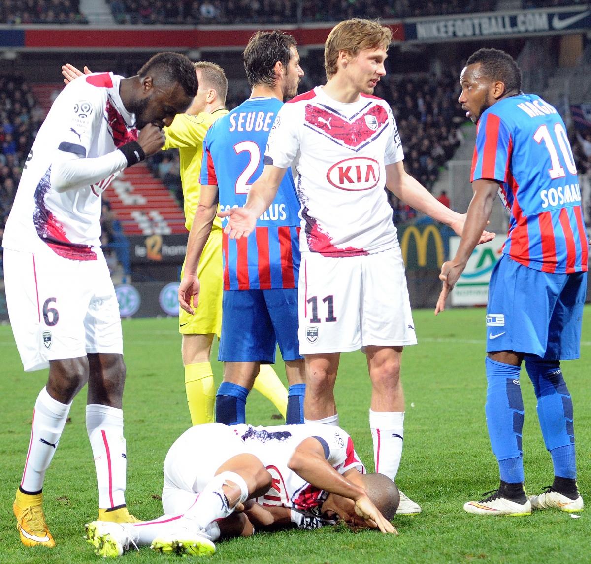 [38e journée de L1] SM Caen 1-0 FCG Bordeaux Nangis_malheureux_1