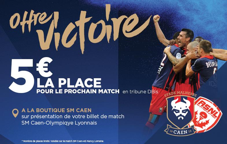 [21e journée de L1] SM Caen 1-0 AS Nancy L Offre_victoire_785x497_v2