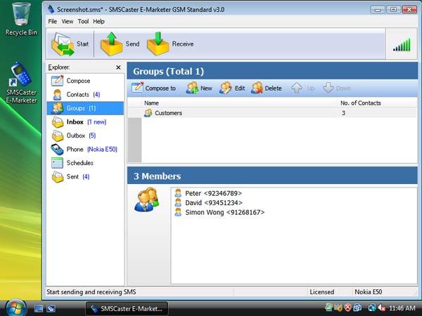 SMS Caster 3.6 Full Screenshot_groups