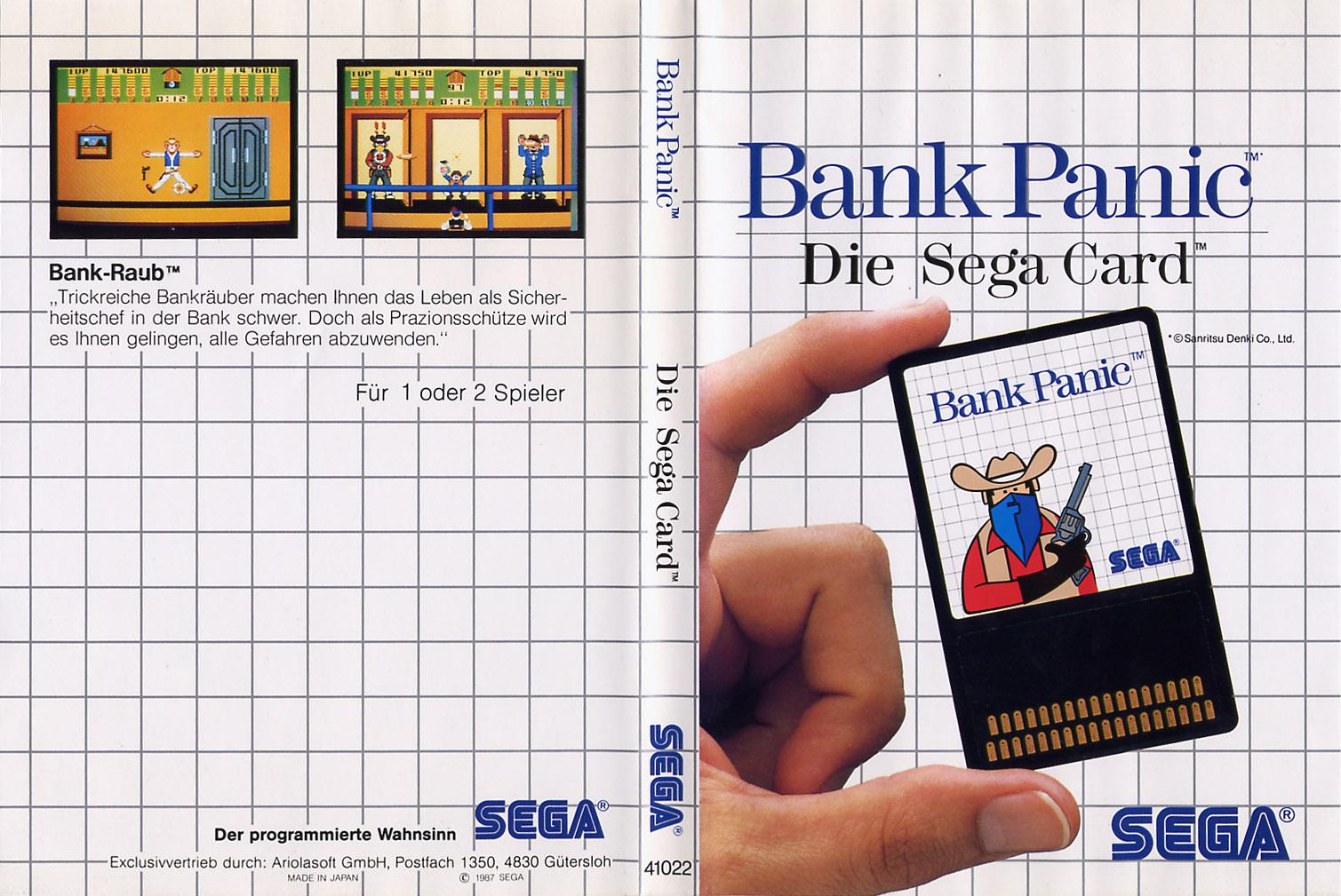 [Master System] Les Sega Card Pal BankPanic-SMS-DE-Card