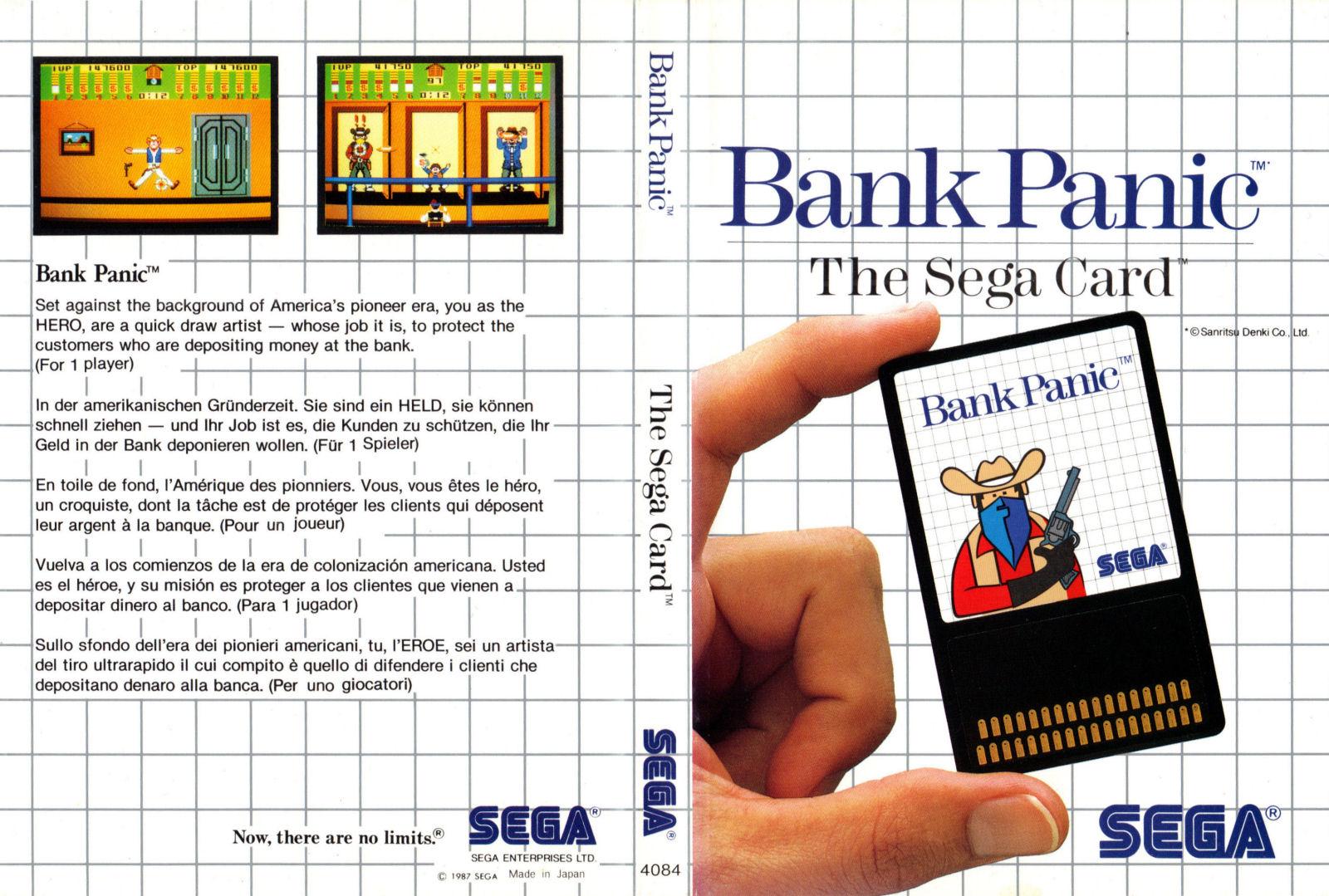 [Master System] Les Sega Card Pal BankPanic-SMS-EU-Card