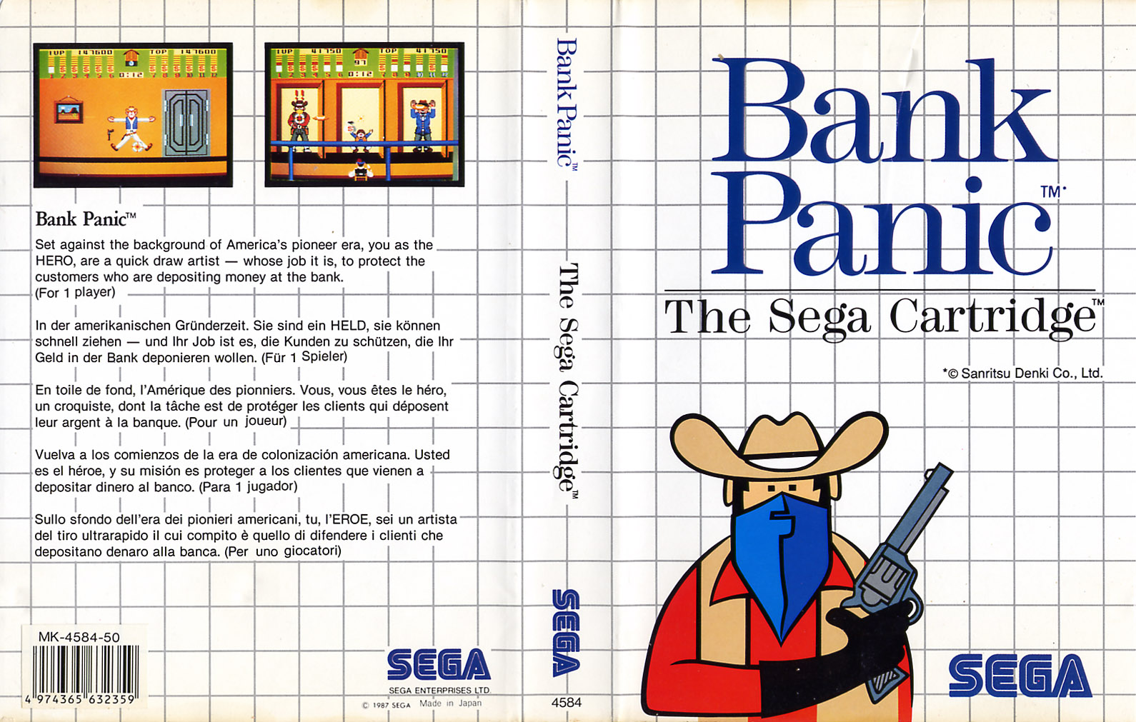 [Master System] Les Sega Card Pal BankPanic-SMS-EU