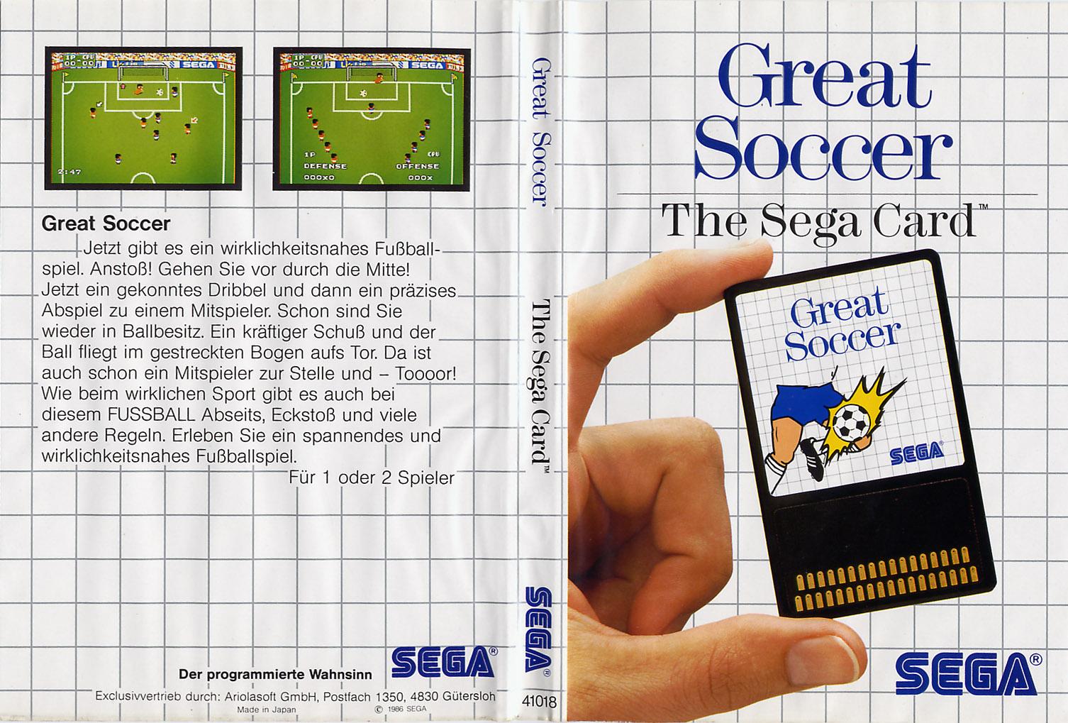 [Master System] Les Sega Card Pal GreatSoccerCard-SMS-DE