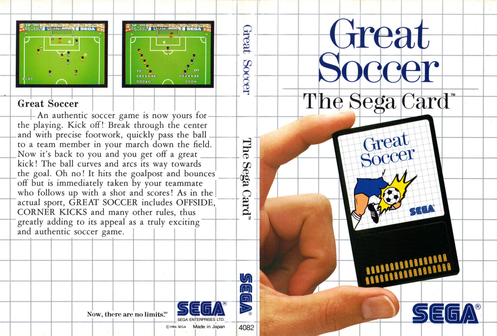 [Master System] Les Sega Card Pal GreatSoccerCard-SMS-IT