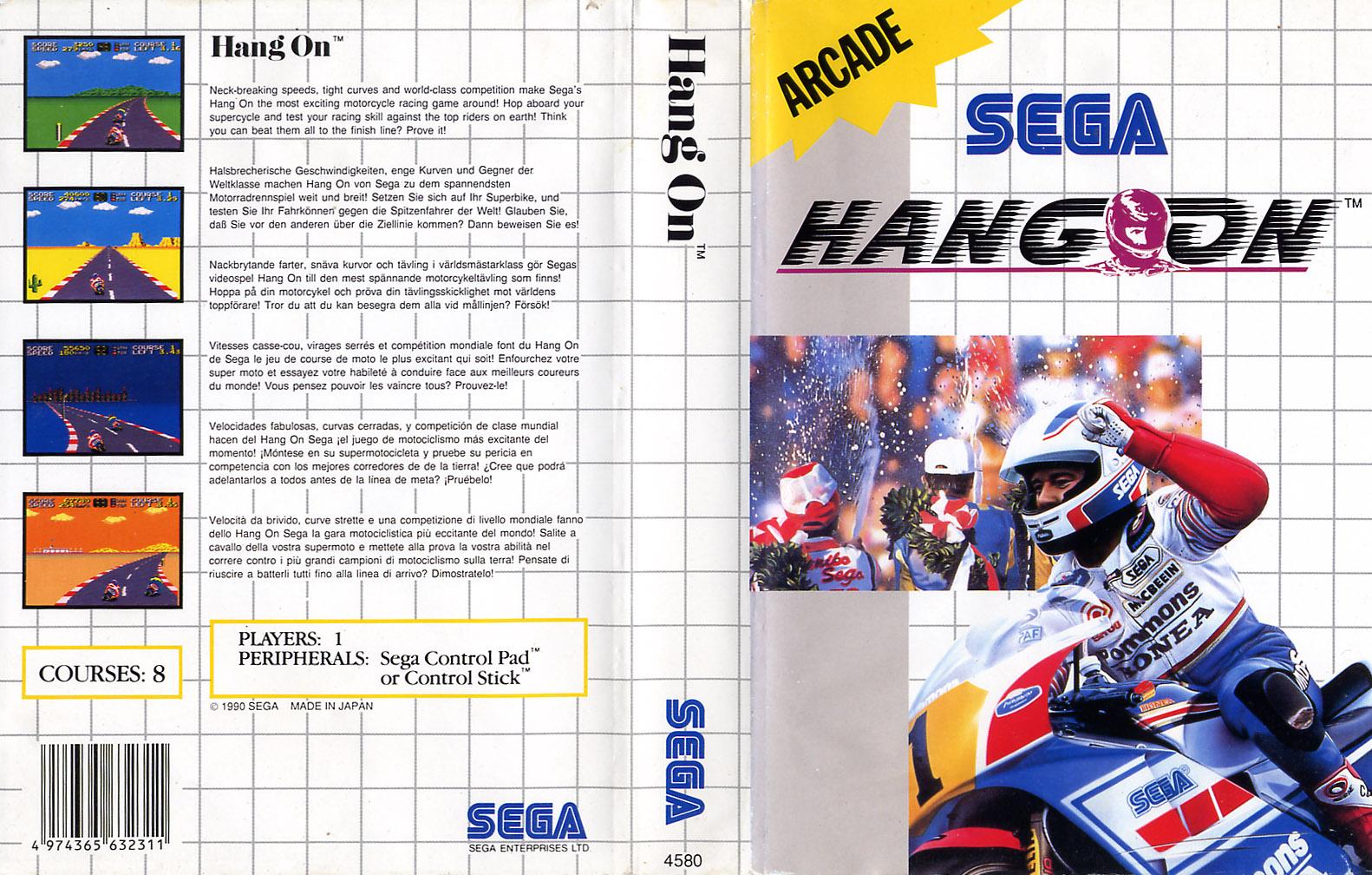 [Master System] Les Sega Card Pal HangOn-SMS-EU-Cartridge