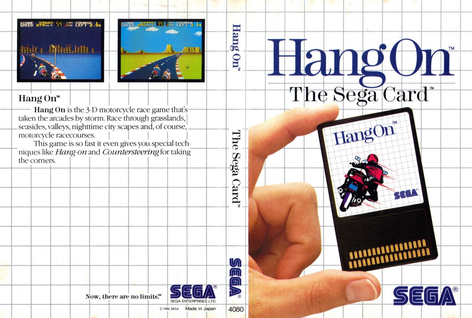 [Master System] Les Sega Card Pal HangOn-SMS-IT-Card