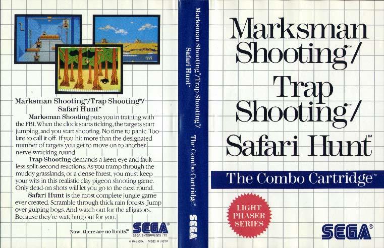[Master System] Les Jeux Light Phaser MarksmanShootingTrapShootingSafariHunt-SMS-EU-English