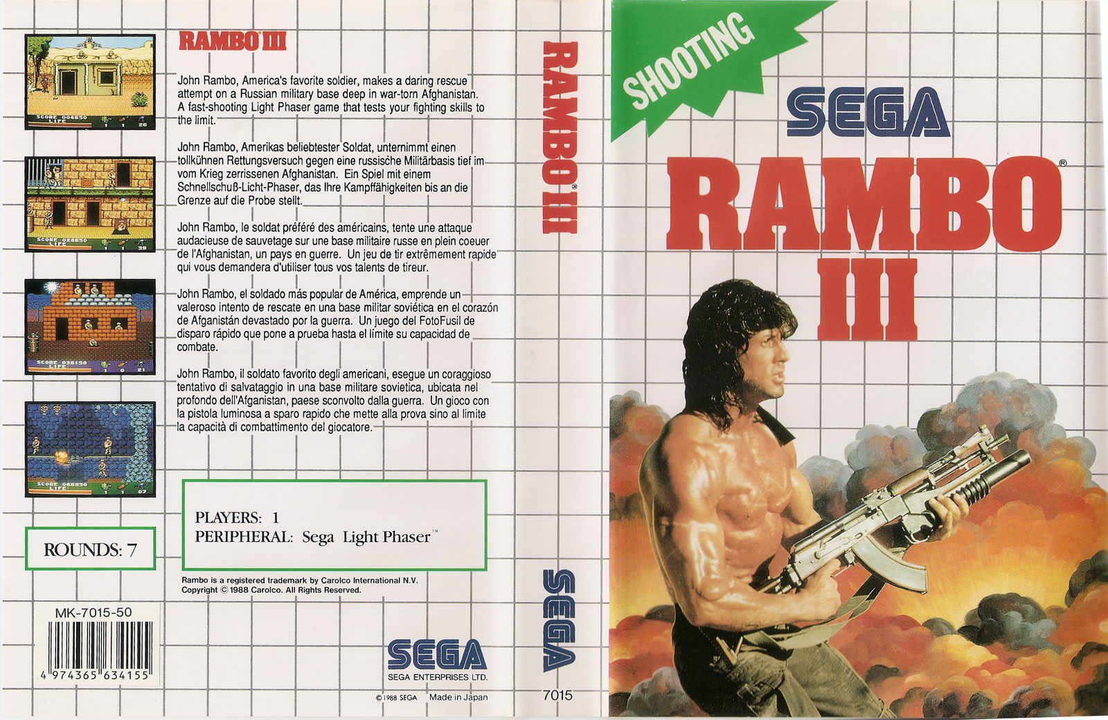 [Master System] Les Jeux Light Phaser RamboIII-SMS-EU-NoR