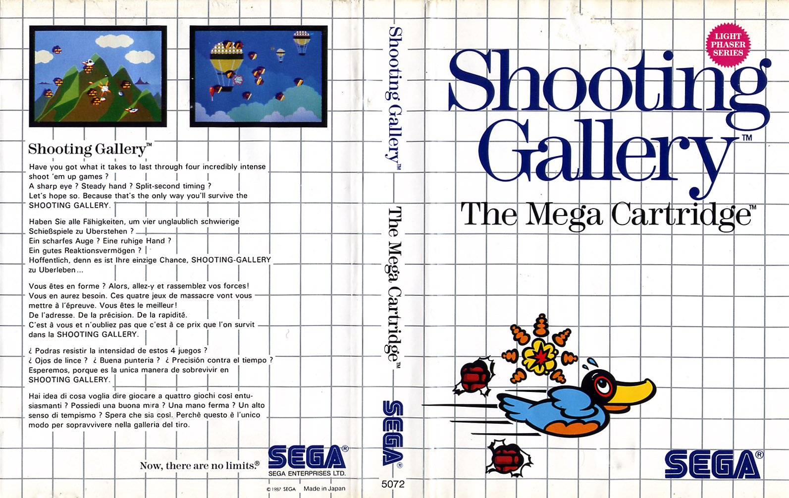 [Master System] Les Jeux Light Phaser ShootingGallery-SMS-EU-NoLimits