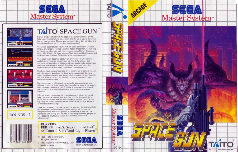 [Master System] Les Jeux Light Phaser SpaceGun-SMS-EU