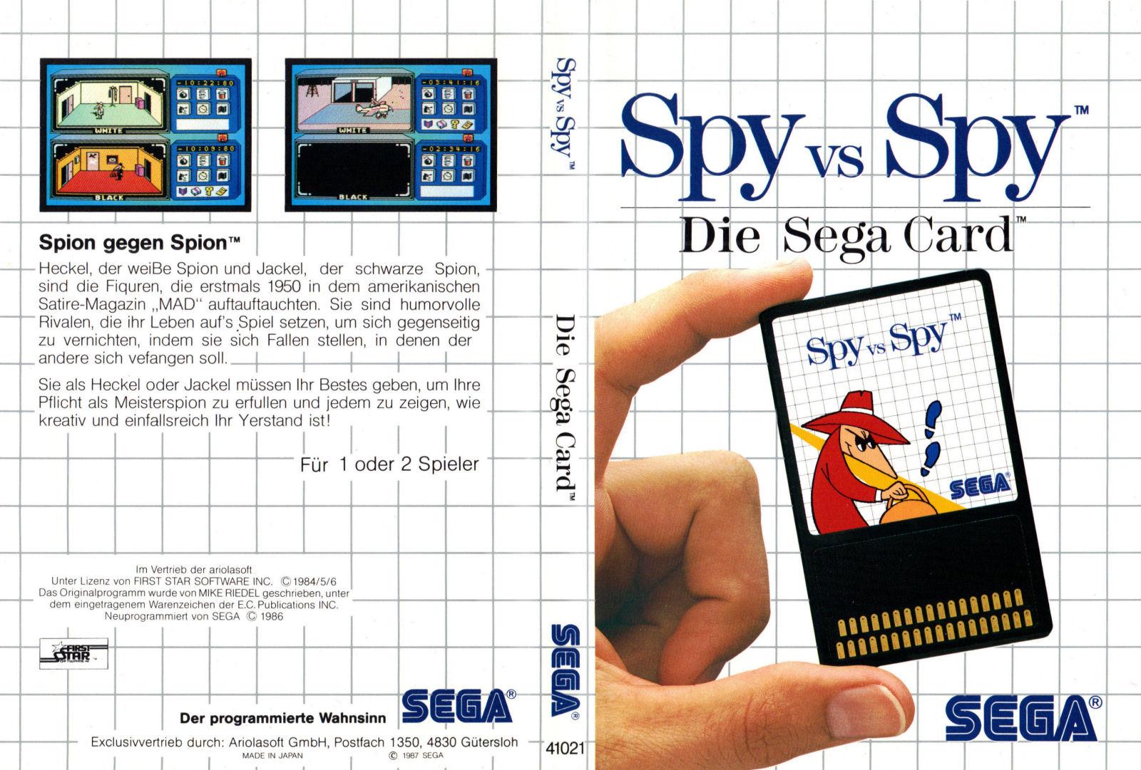 [Master System] Les Sega Card Pal SpyVsSpy-SMS-DE-Card