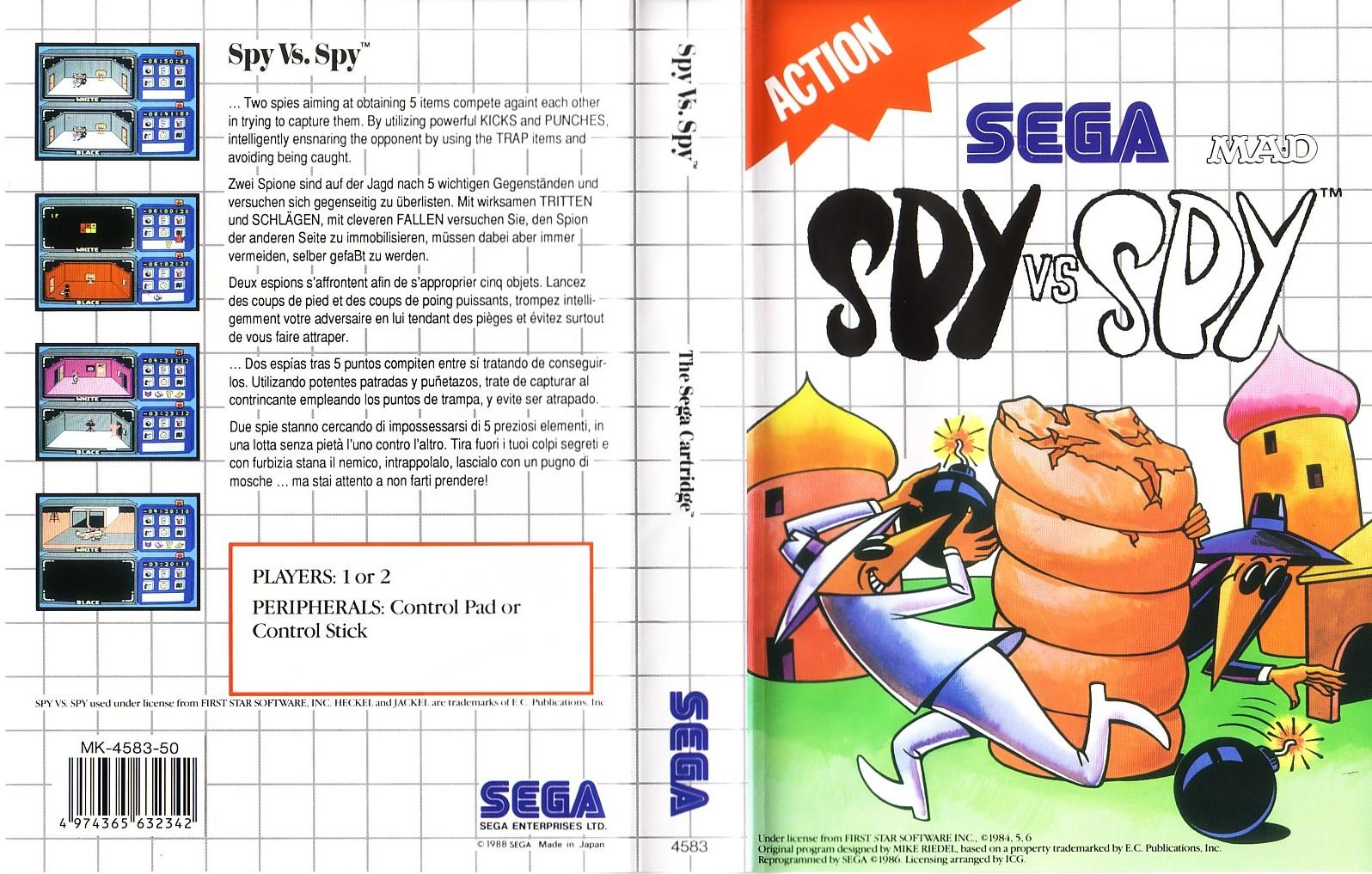 [Master System] Les Sega Card Pal SpyVsSpy-SMS-EU-Cartridge-NoR