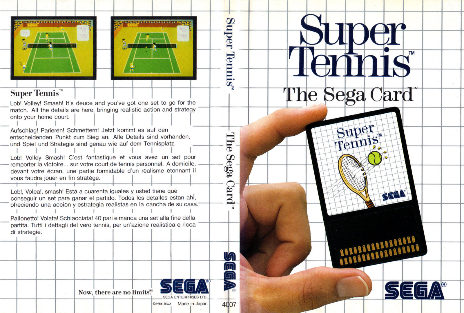 [Master System] Les Sega Card Pal SuperTennis-SMS-EU-Card