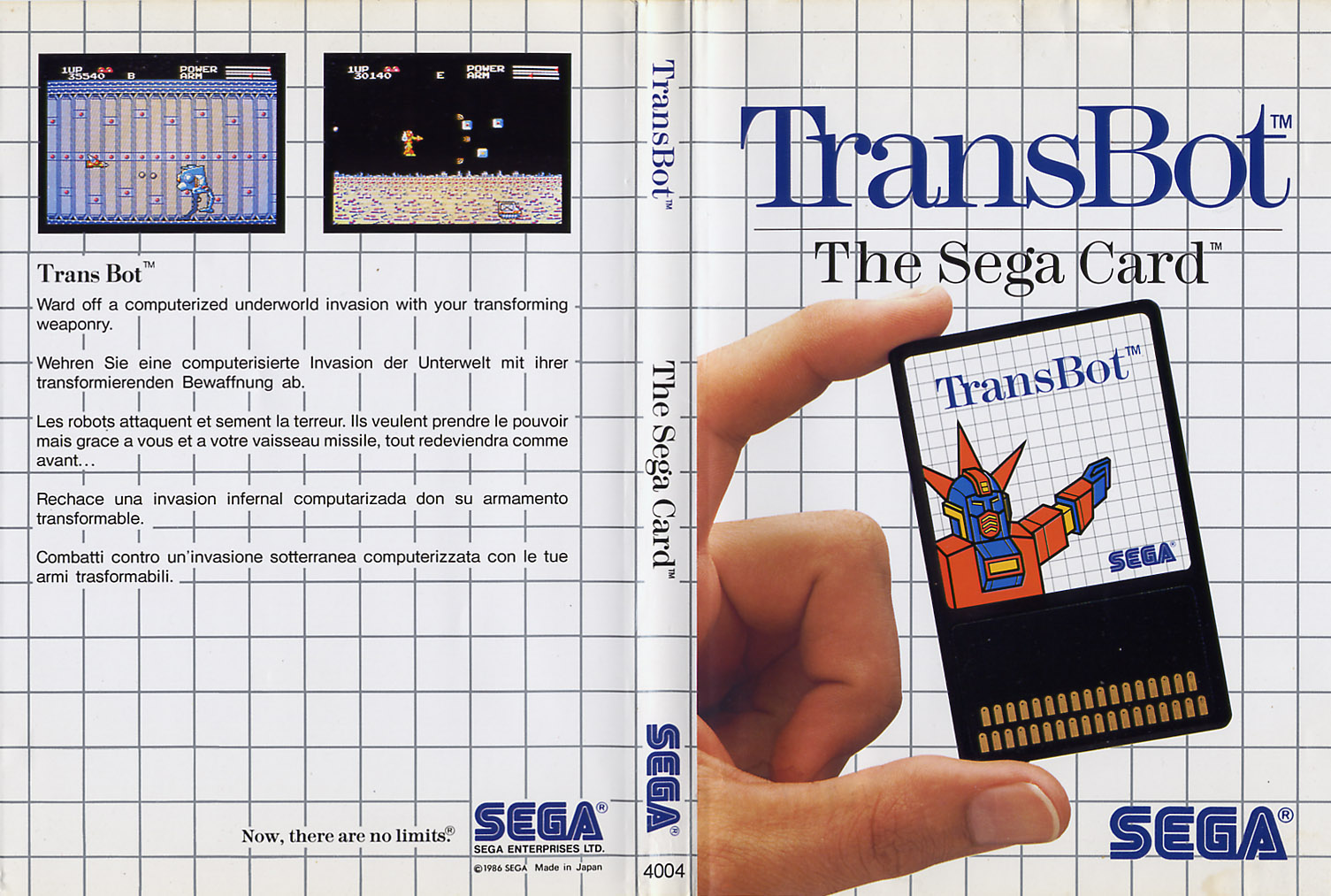 [Master System] Les Sega Card Pal TransBot-SMS-EU-Card-NoLimits-R