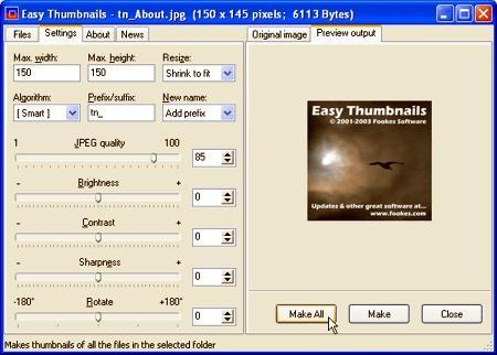 45 programas de diseño Gratis! Easythumbnails