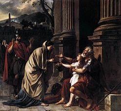 Le saint Carême 001_DavidJLBelisaireRecevantAumone