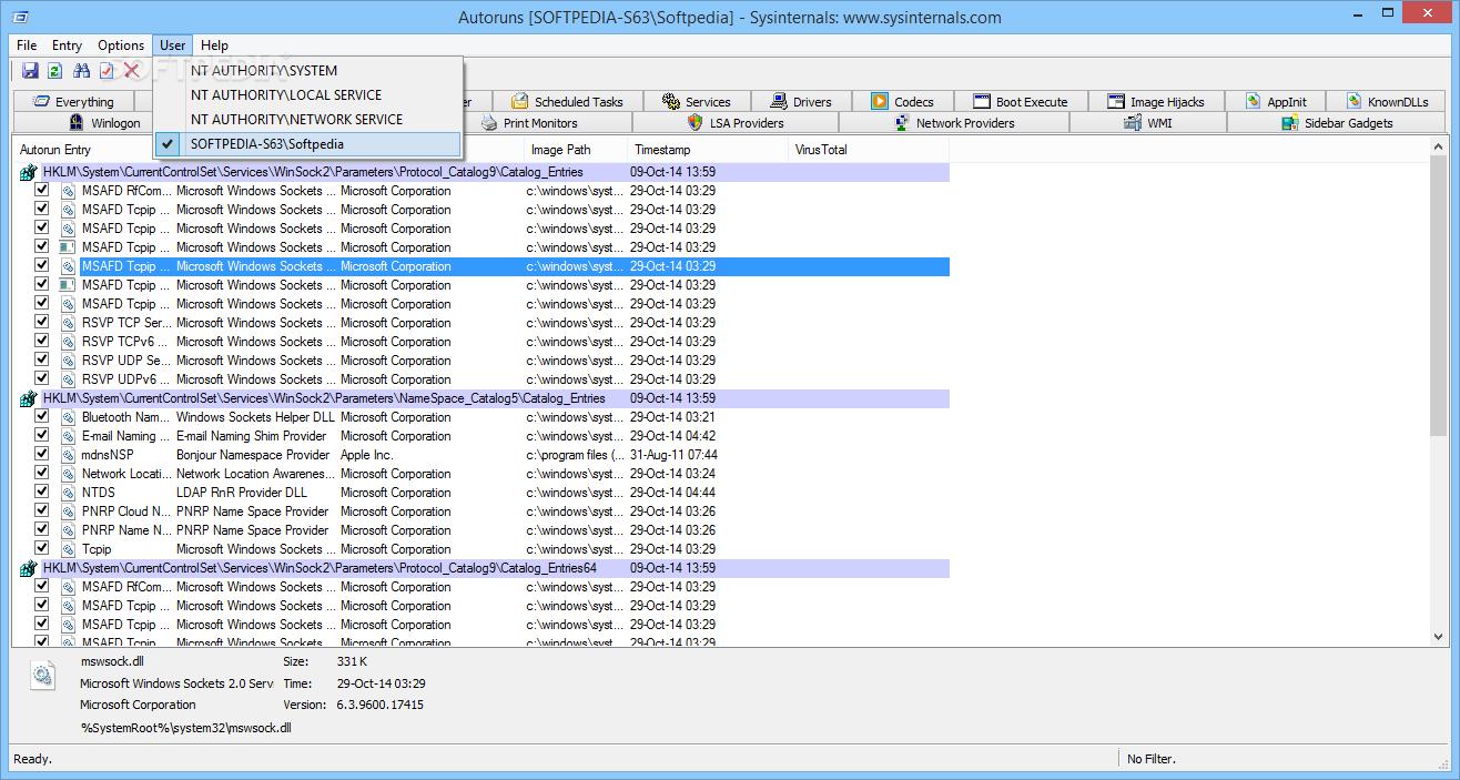 برامج التنظيف AutoRuns_8
