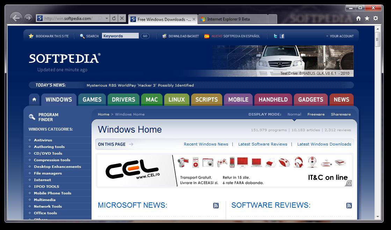 تحميل برنامج انترنت اكسبلورر الاصدار التاسع بيتا Internet Explorer 9 9.0.7930.16406 Beta Internet-Explorer-9_1