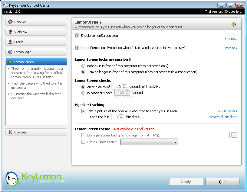 الكمبيوتر يفتح ويقفل بمجرد رؤيتك☻ KeyLemon 2.0.1 KeyLemon_7