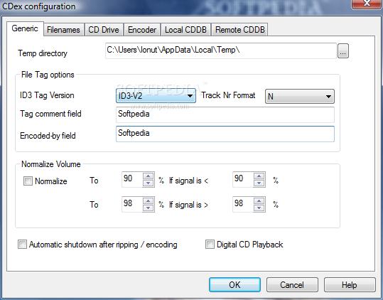 مكتبه برامج أدوات التحكم بملفات الدي في دي والسي دي Portable-CDex_3