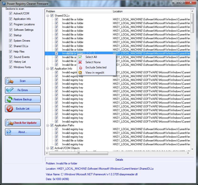 برنامج إصلاح أخطاء الكمبيوتر وتحسين جهاز الكمبيوتر Power-Registry-Cleaner_1