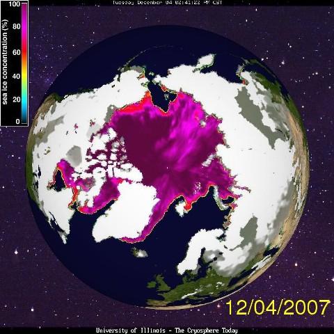 Controverse: réchauffement climatique réalité ou fraude, giec, causes. Arctic_satellite_image