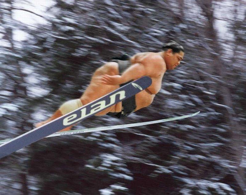 Propuesta Puretas en la nieve Sumo-ski-jump