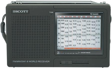 Radio petit budget AM FM Ondes courtes 8 bandes Scott Azyo Scott-RX16-Azyo_P_450