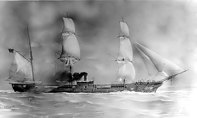 Un inventor de barcos de vapor y un intrépido capitán pretendieron liberar a Napoleón en submarino Housatonic