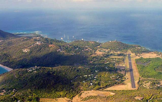 Etape 2: Révision navigation en version nocturne Mustique-airport