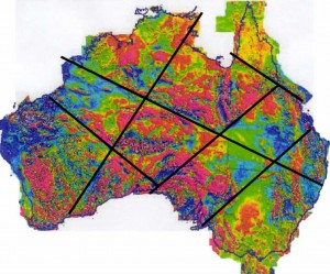 A mysterious huge line is fixed on the surface of the continent Australia Ozlines-300x249