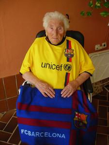 La abuela del Barça: 106 años de pasión por unos colores 1315556074460