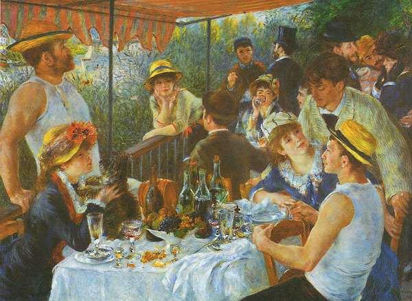 Αγαπημένα Έργα Τέχνης Painting_reproduction_Renoir_The_Boating_Party_Lunch