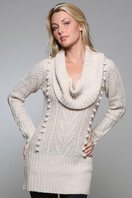 تشكيله متنوعه لأزياء الشتاء CHARLOTTERONcowlsweatdress
