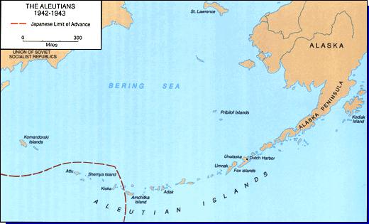 La bataille navale des îles Komandorski Aleutians-1