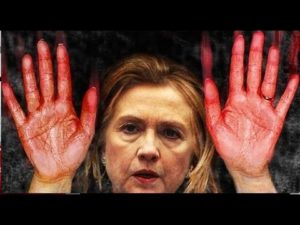 Intel Update - Russia Is Reportedly Set To Release Clinton's Intercepted Emails - July 13, 2016 Hillary-bloody-hands-300x225