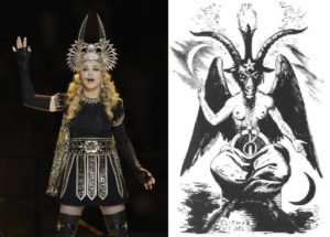 """AS PREDICTED: #hollywoodgate intensifies, #isaackappy 100% FRAUD """"uhhh I dunno"""" Madonna-Baphomet-300x215"""