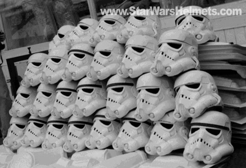 Do you paint all the ears when doing a build  Original-stormtrooper-helmets-in-street-1976