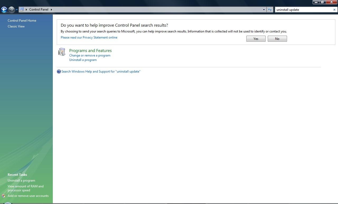 Uninstall Internet Explorer 8 – IE8 Beta2 (Reinstall IE7 Windows Vista) Uninstallupdate