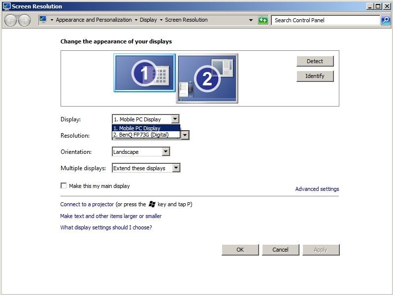Cum sa folosim monitoare multiple in Windows 7 Screen