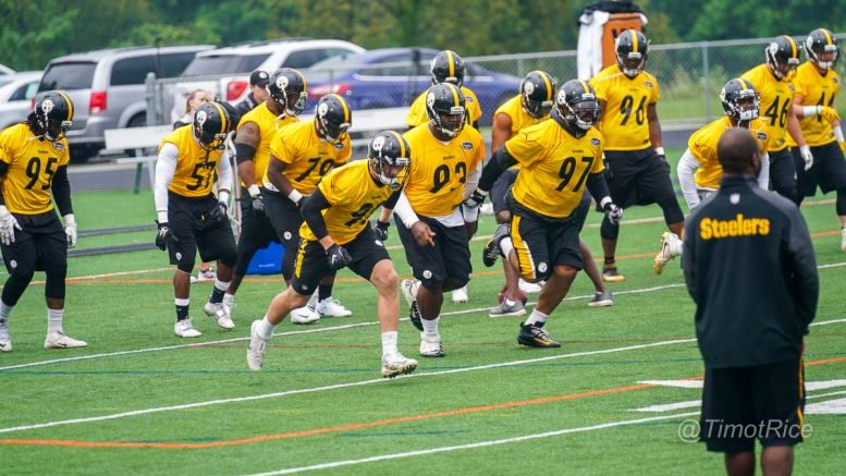 Stephon Tuitt Calls 'Young And Experienced' Defense 'Freaking Scary' Day1SteelersCamp-04955-777x437