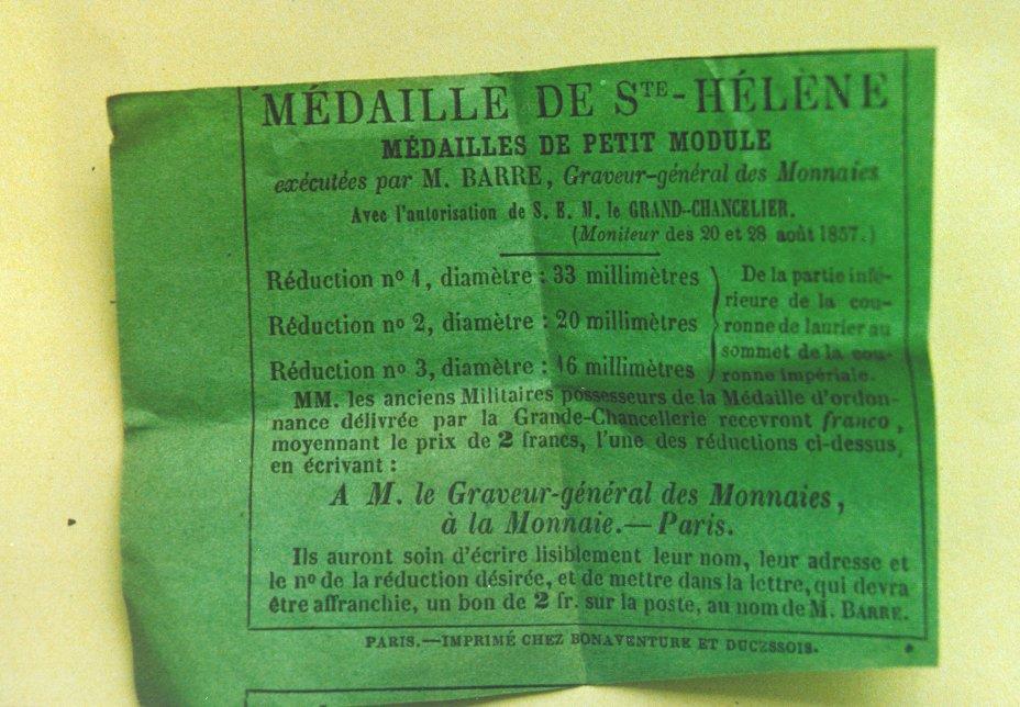 Les rubans de la médaille de Sainte Hélène. Pap_vert
