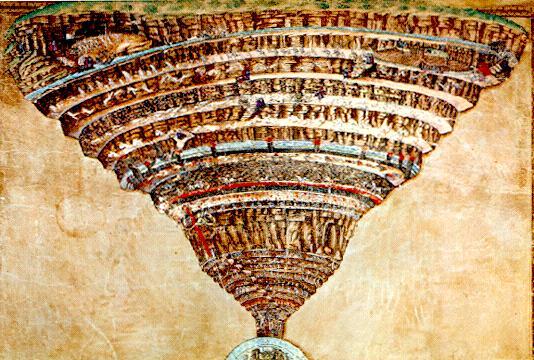 El infierno de Dante (Milenio 3) Botticelli_Map