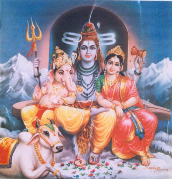 மகா சதாசிவன் படம் - Page 13 1156ShivaParvatiGaneshNandi