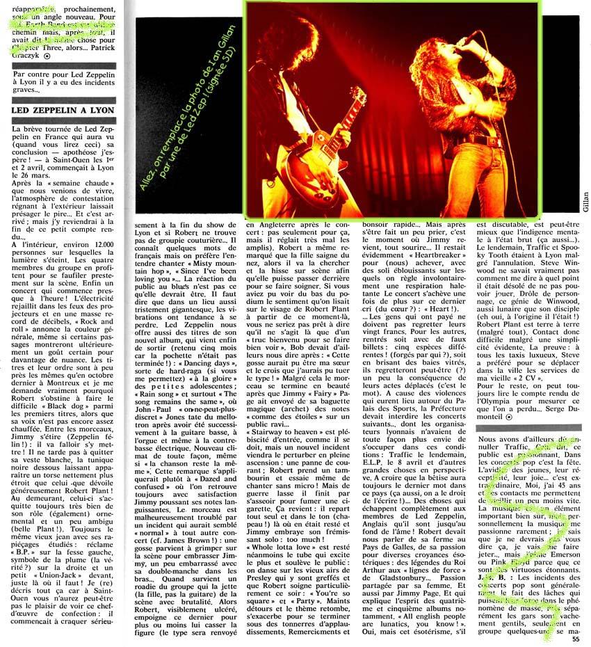 ARTICLES DE PRESSE LED ZEPPELIN LedZepLyon73