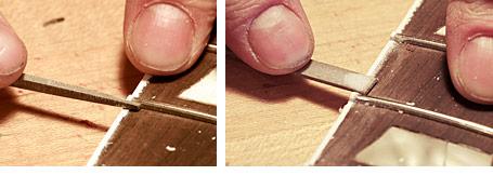 Altura das cordas em um Fender Jazz Bass Ts0131filing3