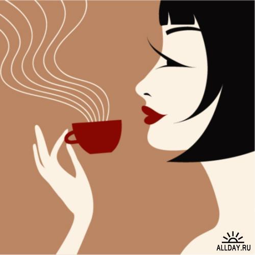 Кофе душу согревает )(Нина Стебелёк стихи 6066