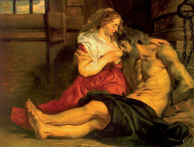"""Dalla """"Carità romana alla Madonna del latte"""" Rubens"""